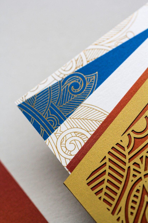 event inserts in pocket printed gold foil   AZURE
