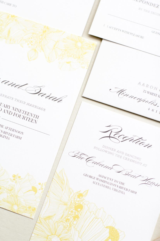 reception card invitation