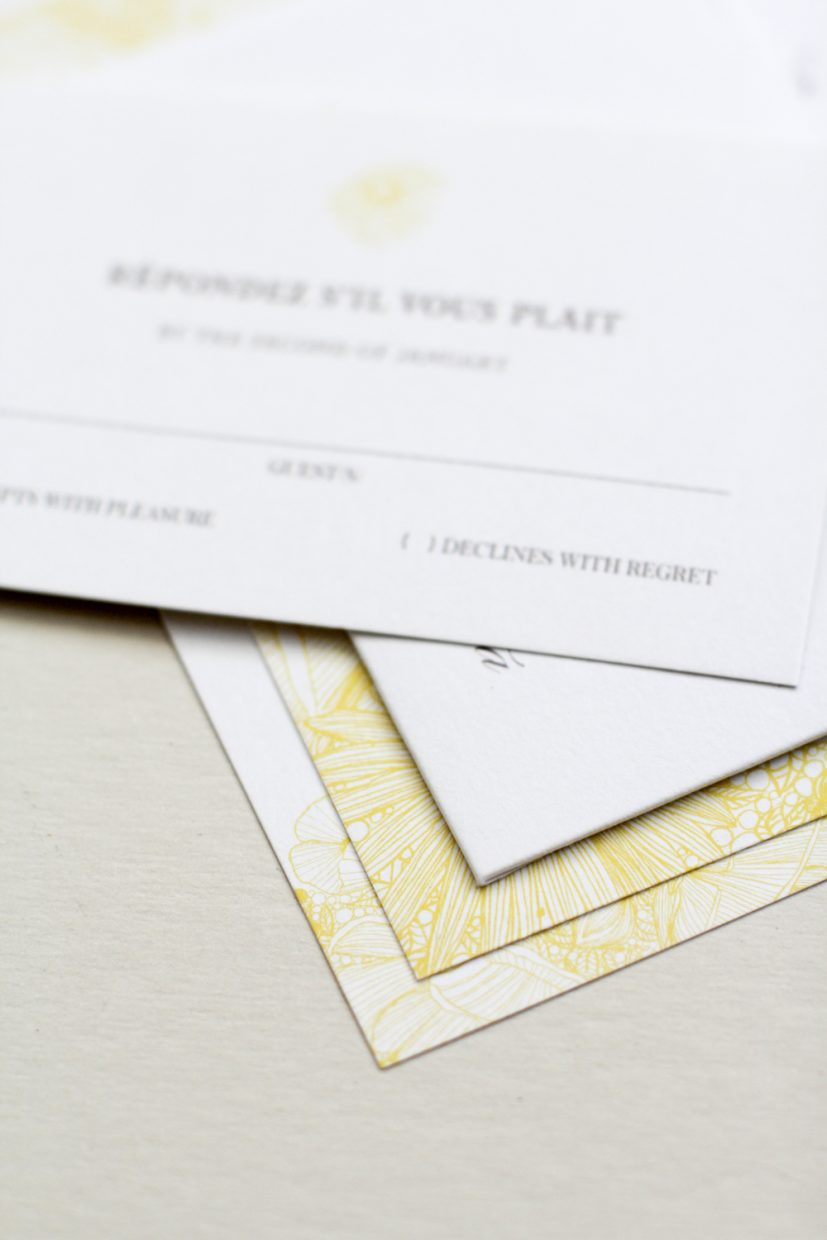 floral invitation reply card