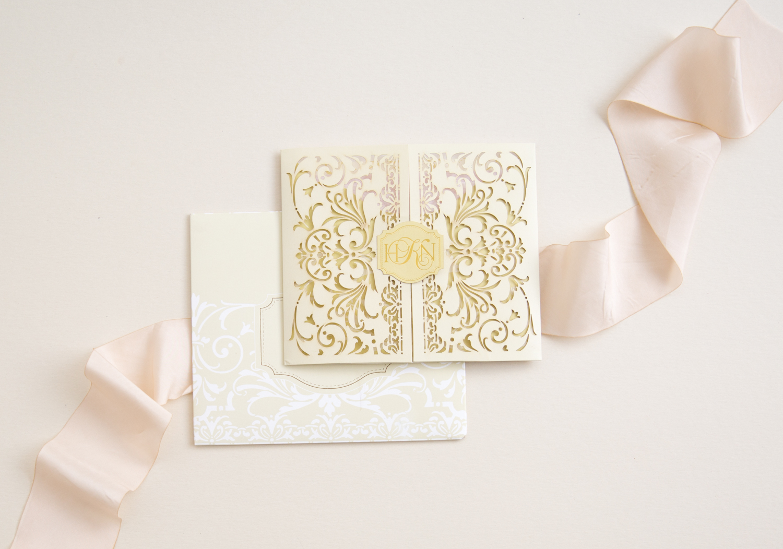 lasercut luxury wedding invitation