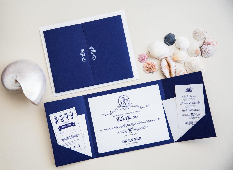 Sea Side Themed Invitation