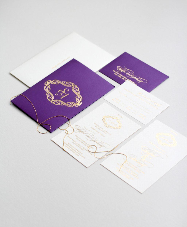 purple-monogram-pocket-invitation