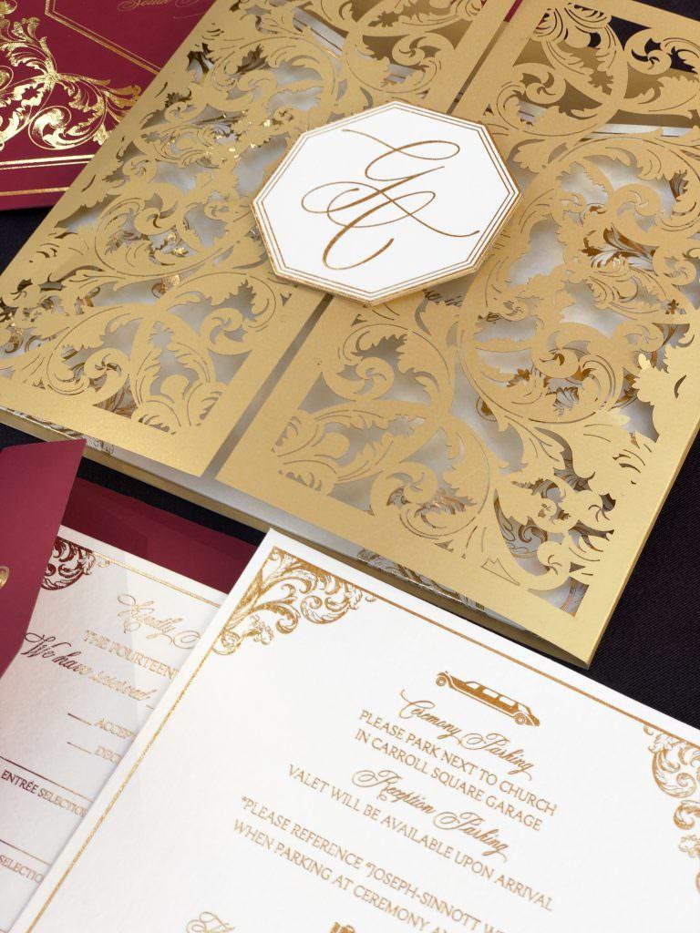 beautiful monogrammed wedding invitations