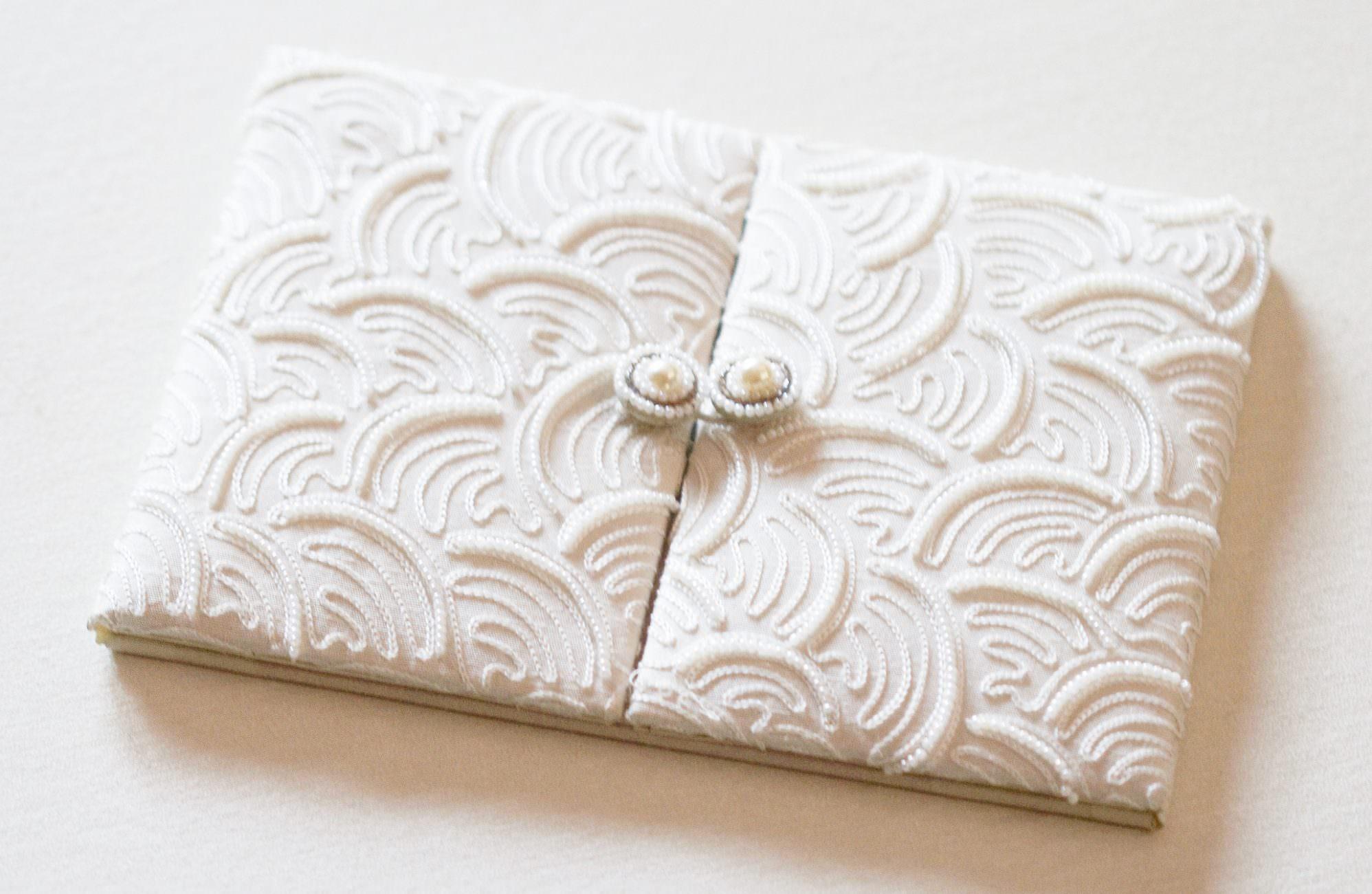 pearl luxury wedding invitation